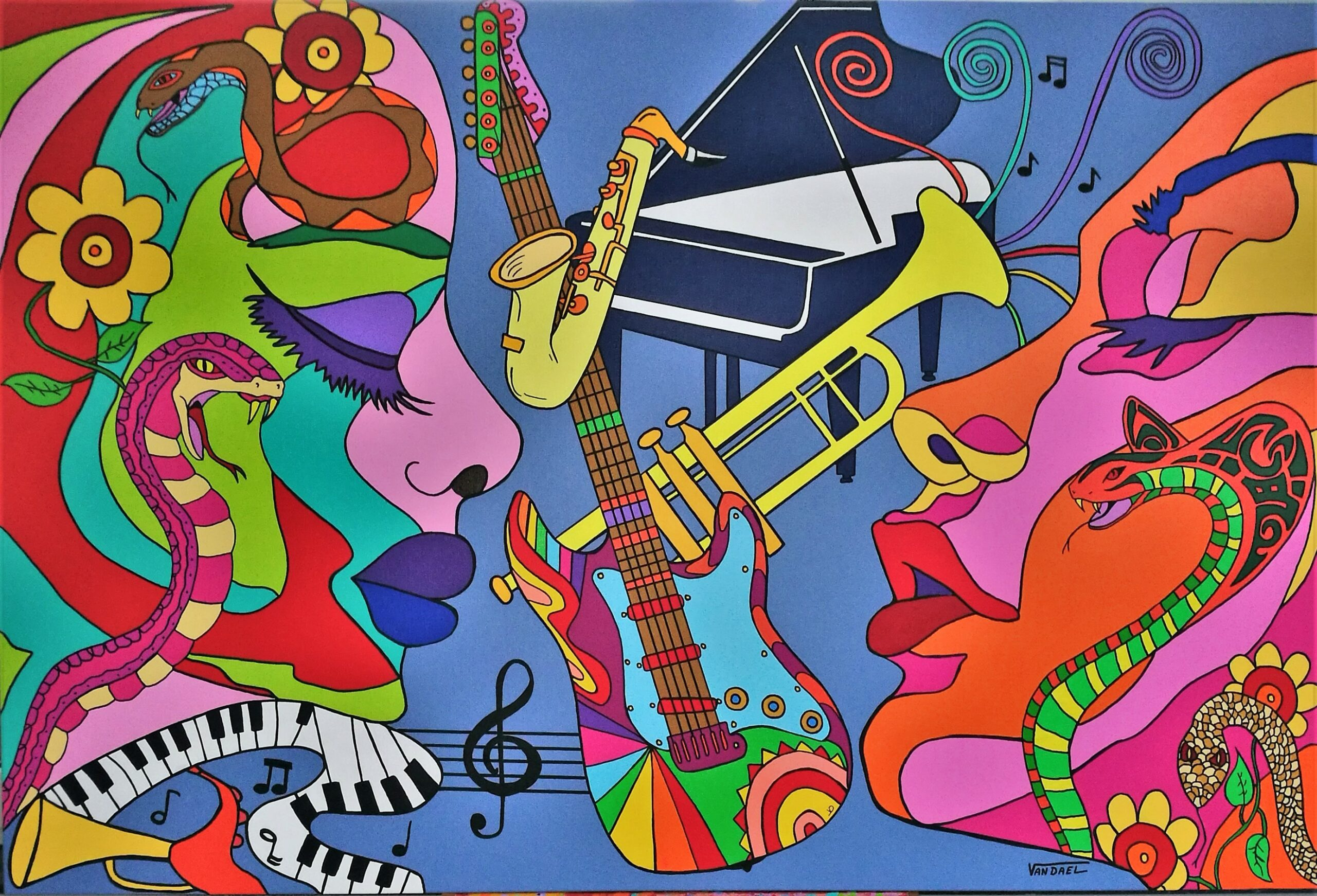 Music Inspiration ,acryl on canvas 100x150